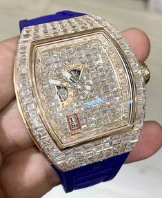 iced out richard mille Stylish Watches, Luxury Watches For Men, Fine Watches, Rolex Watches, Mens Designer Watches, Richard Mille, Hand Watch, Watch 2, Amazing Watches