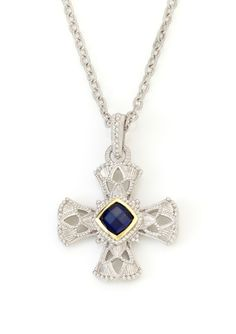 JUDITH RIPKA Windsor Maltese Cross Necklace Maltese Cross, Judith Ripka, Designer Collection, Windsor, Gratitude, Cozy, Pendant Necklace, Jewelry, Be Grateful