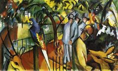 august macke zoological garden i painting & august macke ...