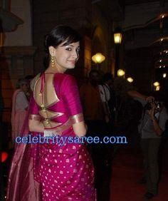 Saree Blouse Patterns: Back Less Saree Blouses