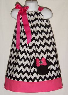 Minnie Mouse CHEVRON Pillowcase Dress / Pink / Christmas / Birthday / Infant / Baby / Girl / Toddler / Kids / Custom Boutique Clothing
