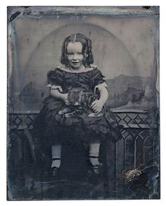 Sweet Victorian Child and her Kitty....Ambrotype | Flickr - Photo Sharing!