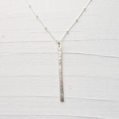 Linear+Stick+Necklace++Sleek+Modern+Bar+Necklace+by+CamileeDesigns,+$34.00