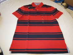 Mens Tommy Hilfiger Polo shirt Striped 7880966 Formula One 649 S Classic Fit NWT #TommyHilfiger #polo