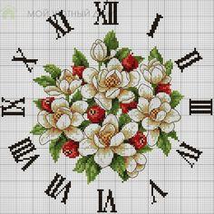 Bordados para reloj en punto de cruz