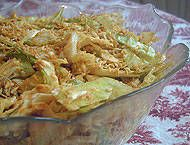 Raw vegan curried cabbage salad recipe