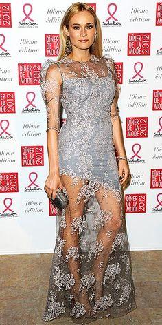 Diane Kruger in Erdem 'Pandora' dress from the Spring 2012 collection
