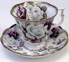 vintage antique tea cups
