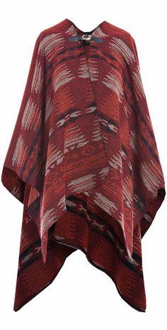 aztec poncho cape coat - fall 2014 winter 2015 - http://www.boomerinas.com/2013/11/06/trendy-coats-for-fall-winter-mature-woman-seeking-cute-comfortable-jacket-for-long-term-relationship/