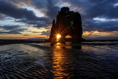 The Rock In Sunrise - Hvitserkur rock in Iceland early in the morning at sunrise 16.th of May 2014.