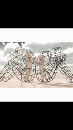 Thought Provoking Burning Man Sculpture Shows Inner Children - Thought provoking burning man sculpture shows inner children trapped inside adult bodies