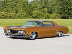 Dropped '64 Riviera - They are low to start, even if you're sitting next to a…