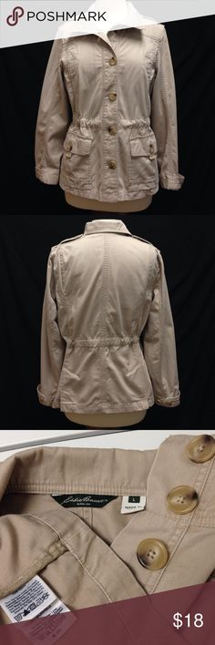 Eddie Bauer Cinched Waist Light Weight Jacket Bust 40 Length 25 Waist 37 Arm length from pit 17. made from 100% cotton and in excellent condition. Eddie Bauer Jackets & Coats Jean Jackets