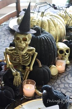 Halloween Decor: DIY With Spray Paint to Create a Spooky Halloween Centerpiece with a Touch of Gold