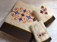 3 pc Embroidered Bath Towel SetAutumn Fancy by WatermelonSwirl, $35.00