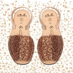 Multi Gold Glitter Wedge | The love for avarcas | Kids