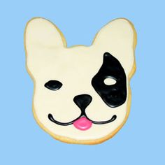 French Bulldog sugar cookie  totally nothing to do with your wedding lol