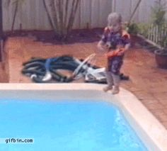 Little girl jumps on her sister in the swimming pool. Gif Bin is your daily source for funny gifs, reaction gifs and funny animated pictures! Large collection of the best gifs. Funny Kids, Funny Cute, The Funny, Hilarious, Funny Shit, Funny Posts, Funny Memes, Jokes, Funny Stuff