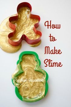 How to make gingerbread  slime by Preschool Inspirations A fun invitation to play for preschool and kindergarten kids.