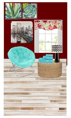 """""""Untitled #434"""" by kourtniestarr on Polyvore featuring interior, interiors, interior design, home, home decor, interior decorating, Country Curtains, Loloi Rugs, Surya and Ready2hangart"""