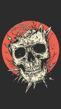 Smile at die. Skull Wallpaper, I Wallpaper, Wallpaper Backgrounds, Wallpapers Geek, Aesthetic Wallpapers, Arte Obscura, Psy Art, Desenho Tattoo, Skulls And Roses