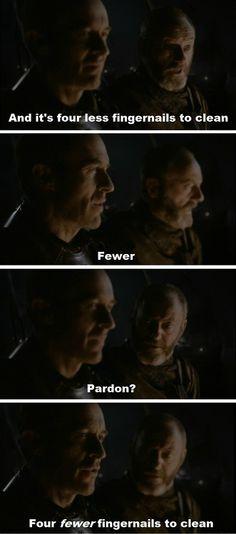 Stannis Baratheon, King of Grammar