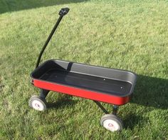 Instructions for refinishing an old rusty Radio Flyer wagon