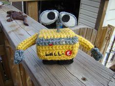 Wall-e crochet pattern! #crochet