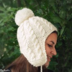 Ear flap hat!