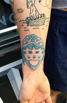 Tattoo by Knarly Gav(Cool Piercings) Piercings, Piercing Tattoo, Pretty Tattoos, Beautiful Tattoos, Cool Tattoos, Tatoos, Blue Ink Tattoos, Body Art Tattoos, Tattoo Ink Colors