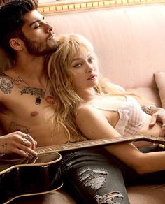 Gigi Hadid and Zayn Malik for Vogue US May 2016 by Mario Testino