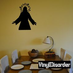 Jesus Wall Decal - Vinyl Decal - Car Decal - DC8165