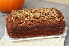 Gluten-Free Pumpkin Spice Bread with Crystallized Ginger and Walnuts (dairy-free)