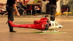 Der Los Angeles Fire Department Bell 412 Vario Modellturbinenhubschrauber