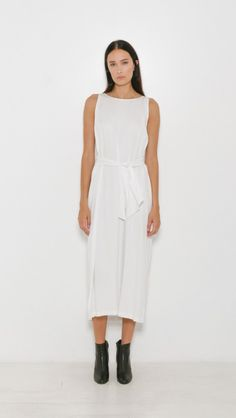 Shaina Mote Tie Dress in Bleach | The Dreslyn