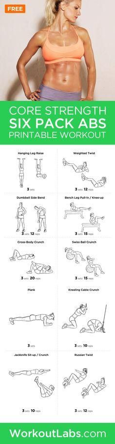 Six Pack Abs Core Strength Workout Routine