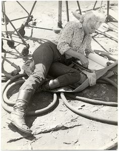 Marilyn on the set of 'River of No Return'