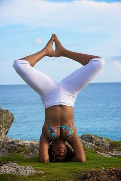 Supported Headstand      Salamba Sirsasana Thank you for your photo submission Yoga teacher Cassanie, Negrils West End, Jamaica