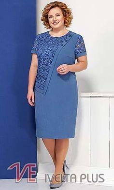 Ivelta Plus лето Отельный белорусской компании Plus Size Gowns, Plus Size Dresses, Dress Outfits, Casual Dresses, Fashion Outfits, Womens Fashion, Dame Chic, Outfit Chic, Lace Dress Styles