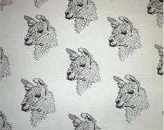 "Llama Fabric/All Cotton""Feels Like Silk""/Northcot/Hot Diggity/Craft Supplies & Tools/Fabric and Notions/Fabric/Animal Fabric/Llama Mom Gift by HotDiggityDogFabrics on Etsy Llamas, Llama Pillow, Llama Gifts, Llama Alpaca, Fabric Animals, Novelty Fabric, Sewing Material, Exotic Pets, Fabric Crafts"