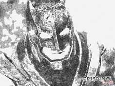 Batman from the movie Batman v Superman - Handmade portrait with the single lines technique.  Please find more on www.CrispinoLineArt.com or www.etsy.com/shop/CrispinoLineArt