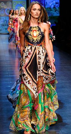 Boho Chic fashion by Dolce & Gabbana