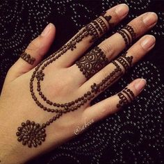 Modern twist on traditional henna Mehndi Designs For Girls, Unique Mehndi Designs, Mehndi Designs For Fingers, Beautiful Henna Designs, Simple Mehndi Designs, Henna Tattoo Designs, Mehandi Designs, Hena Designs, Finger Henna