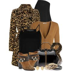 """""""Jimmy Choo Leopard Ankle Boots"""" by brendariley-1 on Polyvore"""