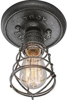 industrial flush mount light - Google Search