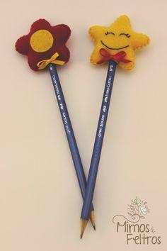 Ponteiras de lápis Estrela e Flor
