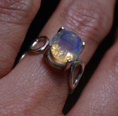 Ethiopian Opal Sterling Silver Filigree Ring -  My newest obsession is Ethiopian Opal. This is my first piece with one of these gorgeous gemstones, but it won't be my last!