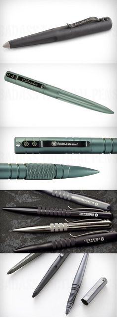 Tactical Pens ( http://gearpatrol.com/2010/12/03/essential-gear-10-badass-tactical-pens/ )