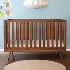 Mid Century Modern Slat Crib from PoshTots