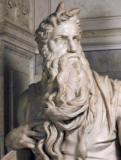 Michelangelo, Mosè, 1513-1515 c., Roma, Basilica di San Pietro in Vincoli, marmo (dettaglio)